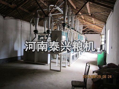 陕西渭南30吨级面粉机组安装案例