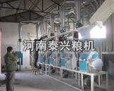我厂在洛阳安装的30吨级面粉机设备