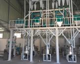新乡封丘7组石磨面粉机组安装案例
