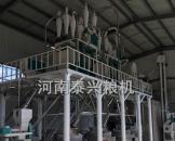 延安8组石磨面粉机设备现场图