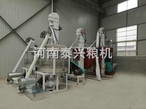 甘肃天水双组石磨面粉机安装案例