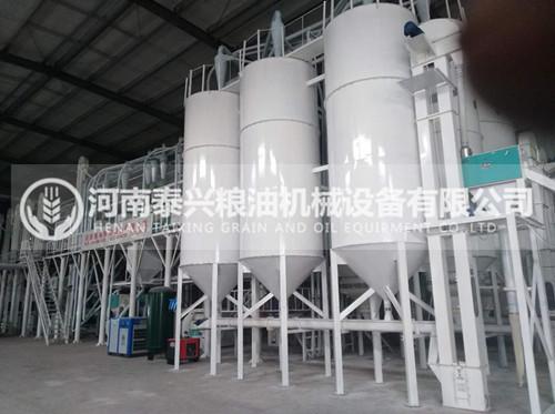 新乡辉县100吨玉米加工机械安装案例