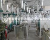 内蒙古10吨级石磨面粉机安装案例