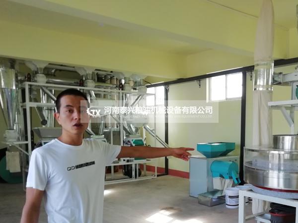 宝鸡千阳北台村三组面粉机安装案例