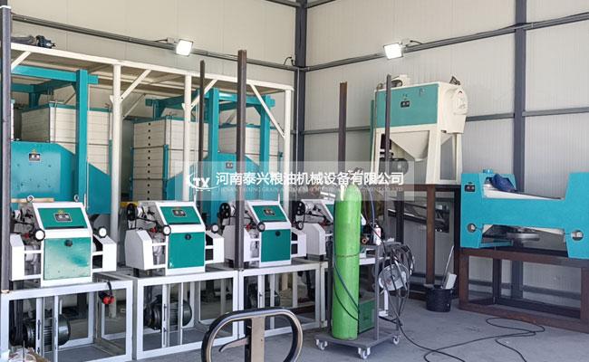 塞浦路斯30吨面粉机械安装中